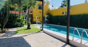 LA CASA DE FER ( Riberas del Pilar San Marcos # 227 ) Furnished Hacienda Style 2 Bedrooms, 1 Bathrooms on main Area, Living Room, Dining Room, Good Kitchen, Laundry, Covered Patio, Exterior 1 Bedroom and 1 Bathroom, Nice Garden, Solas Heater pool, electric garage. $1,350.00 USD per month includes Gardener and Pool maintenance. AVAILABLE JULY 15TH ( LONG TERM PREFERABLE)